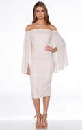 Scribe Drape Midi Dress