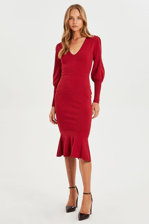 Alexandra Fitted Knit Dress