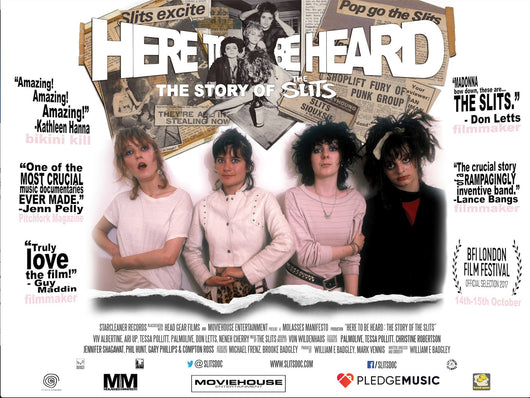 The Slits - Here To Be Heard: The Story Of The Slits - Cinema Poster