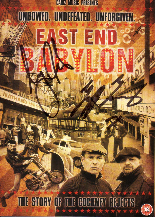 East End Babylon: The Story Of The Cockney Rejects - Signed By Jeff & Mick