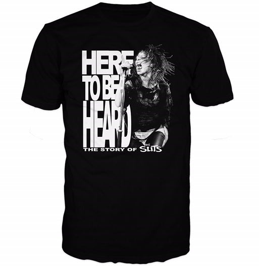The Slits - Here To Be Heard Movie - T Shirt