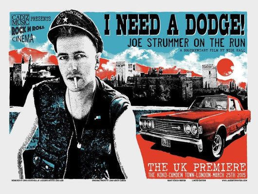 Joe Strummer - I Need A Dodge - Exclusive Screenprint