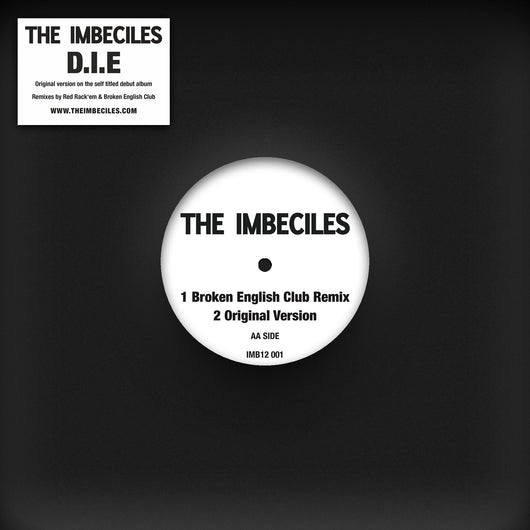 The Imbeciles - D.I.E. Remixes - Vinyl 12EP