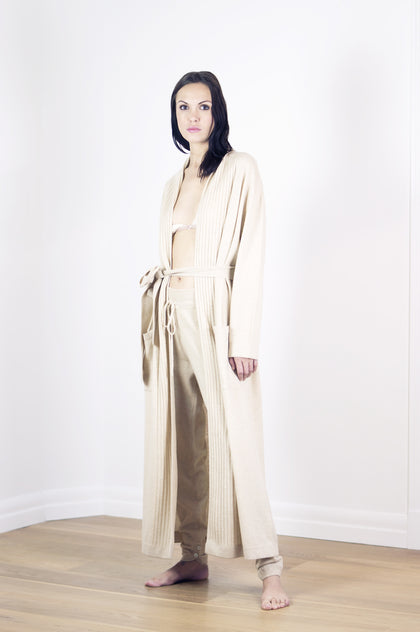 Ayo Oslo Lone robe in cream