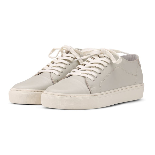Classic Lace - Off White Leather