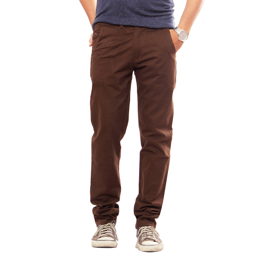 Uber Choco Cotton Elastene Spike Trouser front view