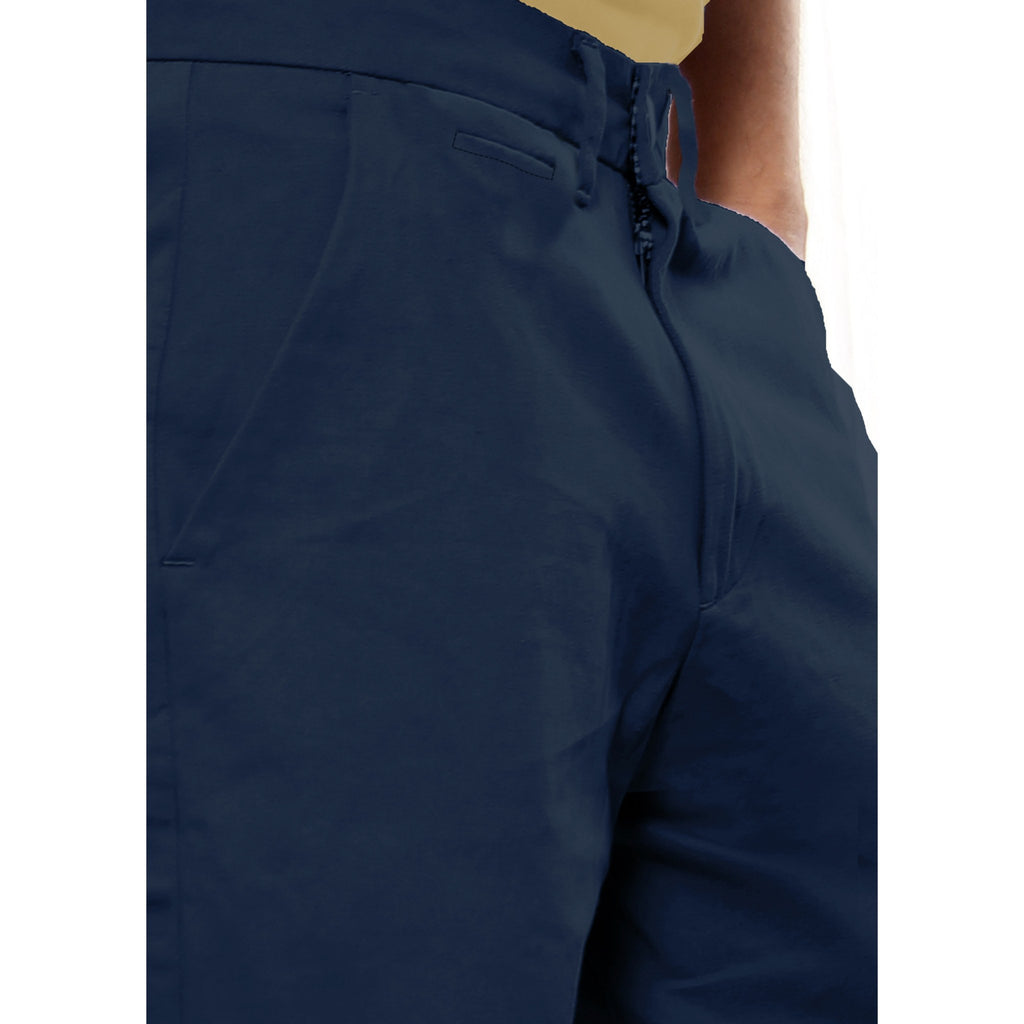 Uber Dark Slate Blue Meerut Shorts close up view