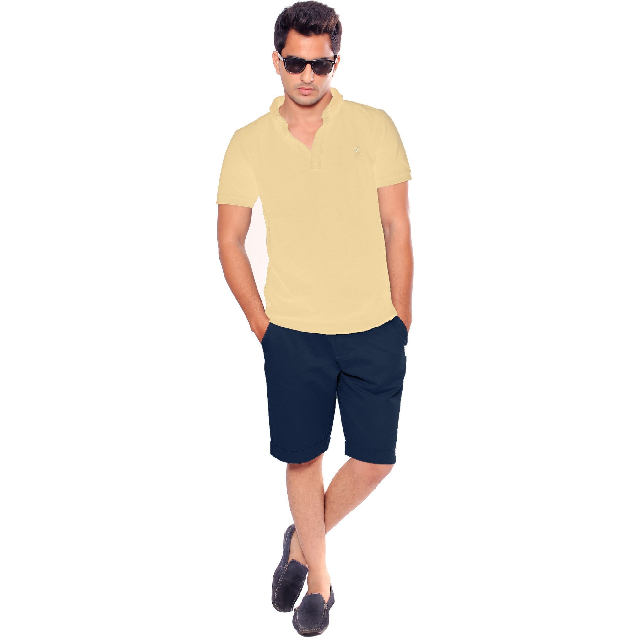 Uber Dark Slate Blue Meerut Shorts front view