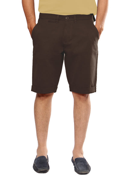 Uber Coffee Brown Meerut Shorts For Men - uber-urban