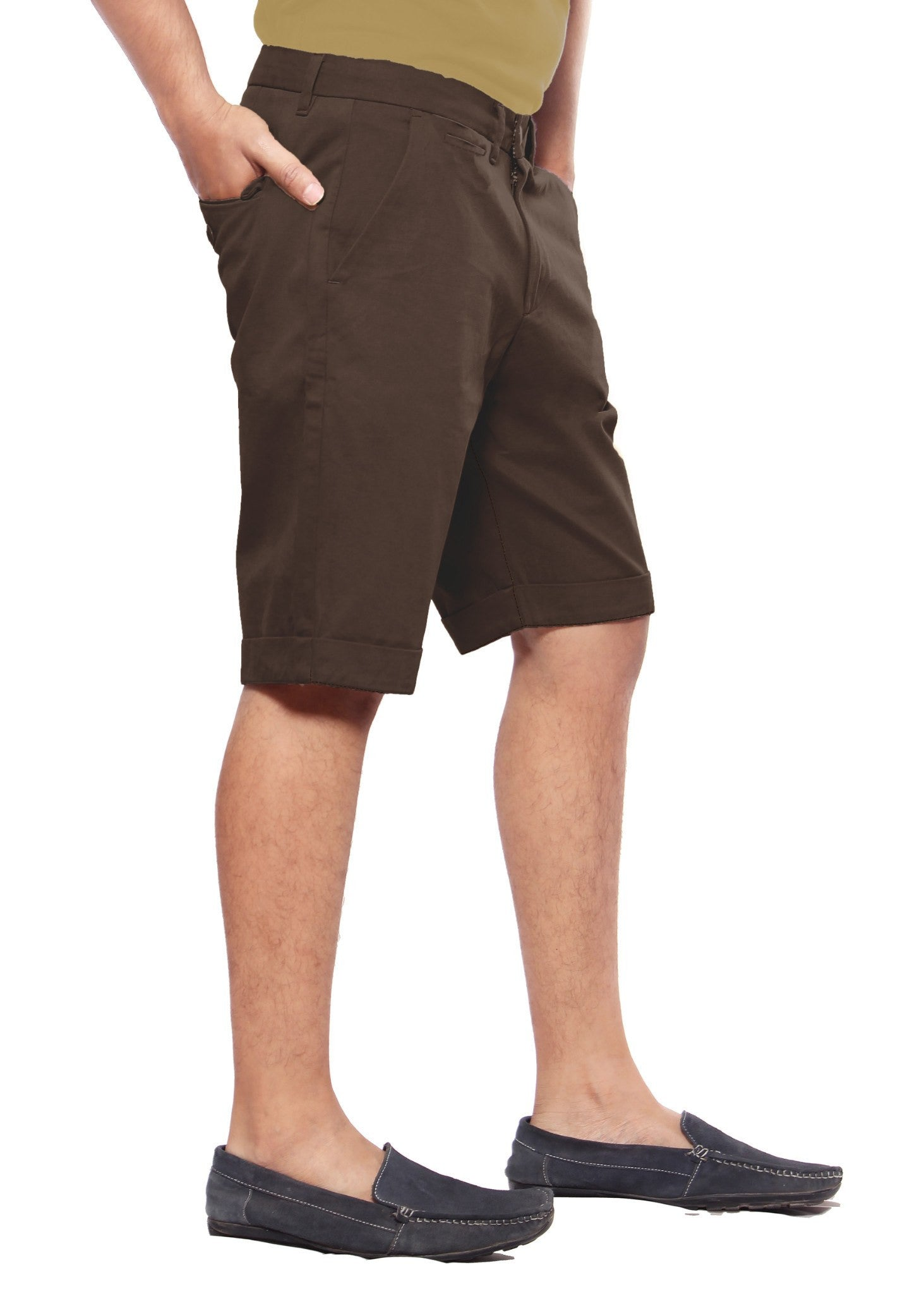Uber Coffee Brown Meerut Shorts right side view