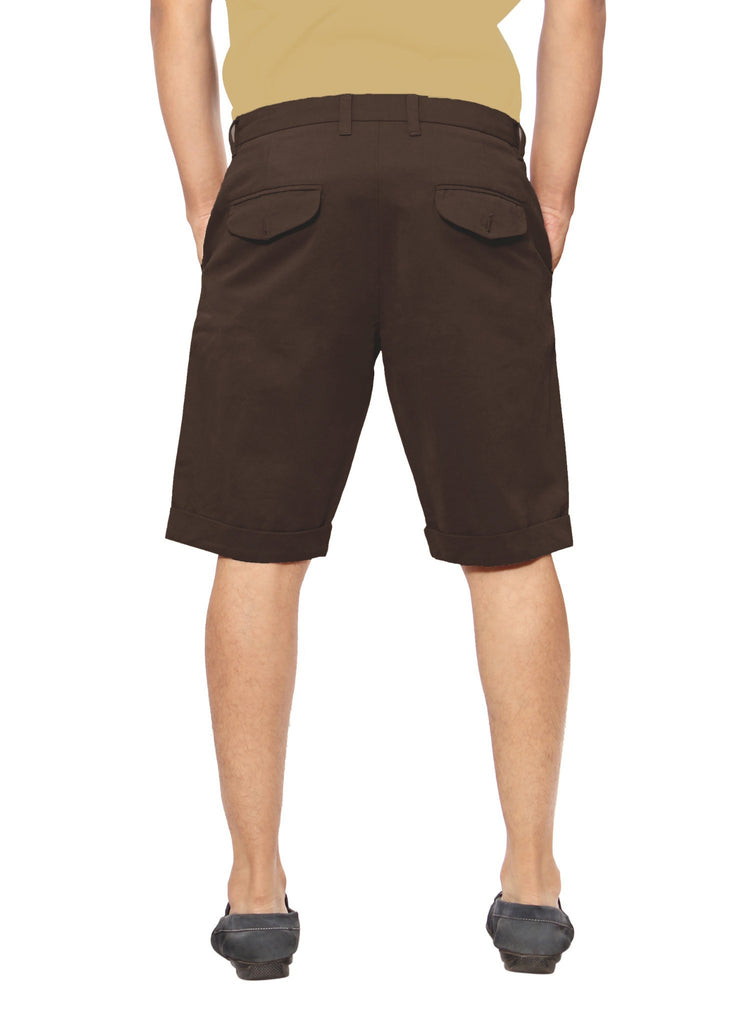 Uber Coffee Brown Meerut Shorts back view