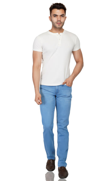 Light Blue Whisker Stretch Denim - uber-urban