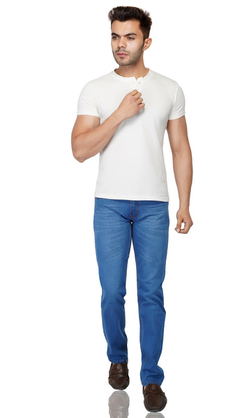Medium Blue Whisker Stretch Denim - uber-urban