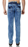 Faded Blue Stretch Denim