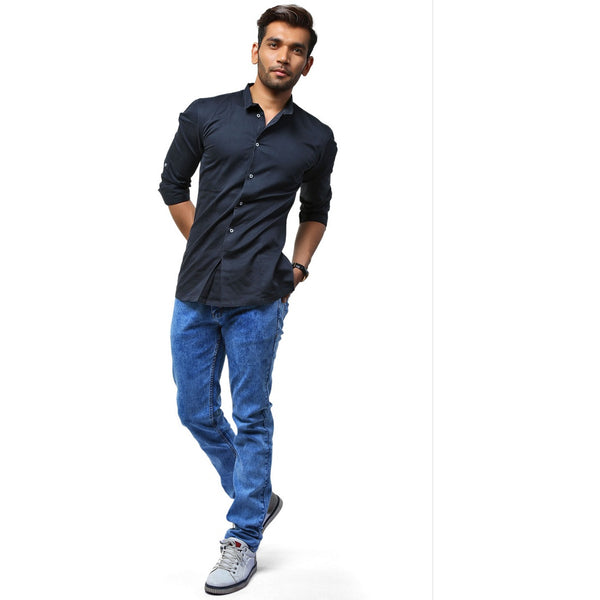Stone Blue Stretch Denim - uber-urban