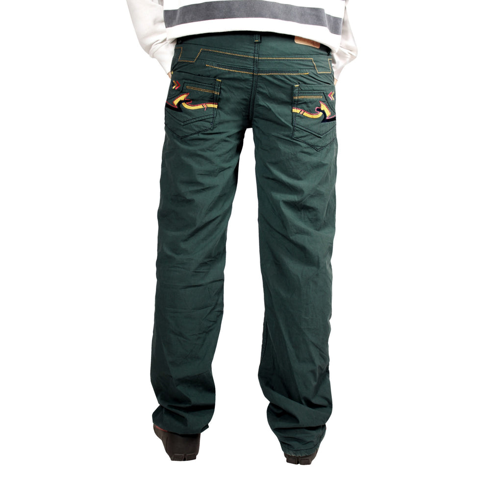 Sea Green Cotton Bonded Trouser For Men (Regular Fit) - Über Urban Trouser