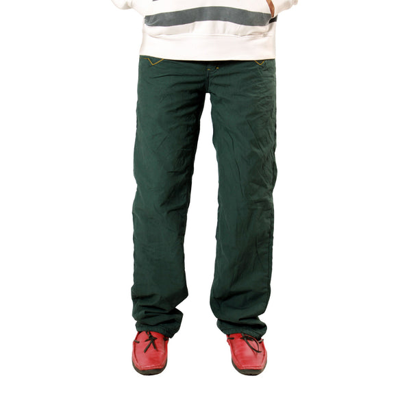 Sea Green Cotton Bonded Trouser For Men (Regular Fit) - uber-urban