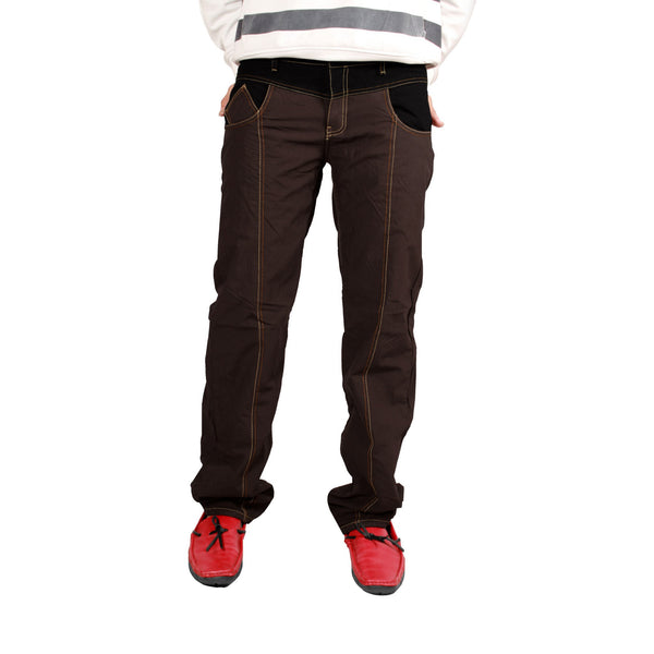 Coffee Brown Stripped Bonded Trouser