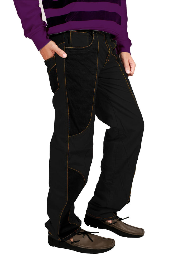 Coal Black Bonded Trouser - Über Urban Trouser