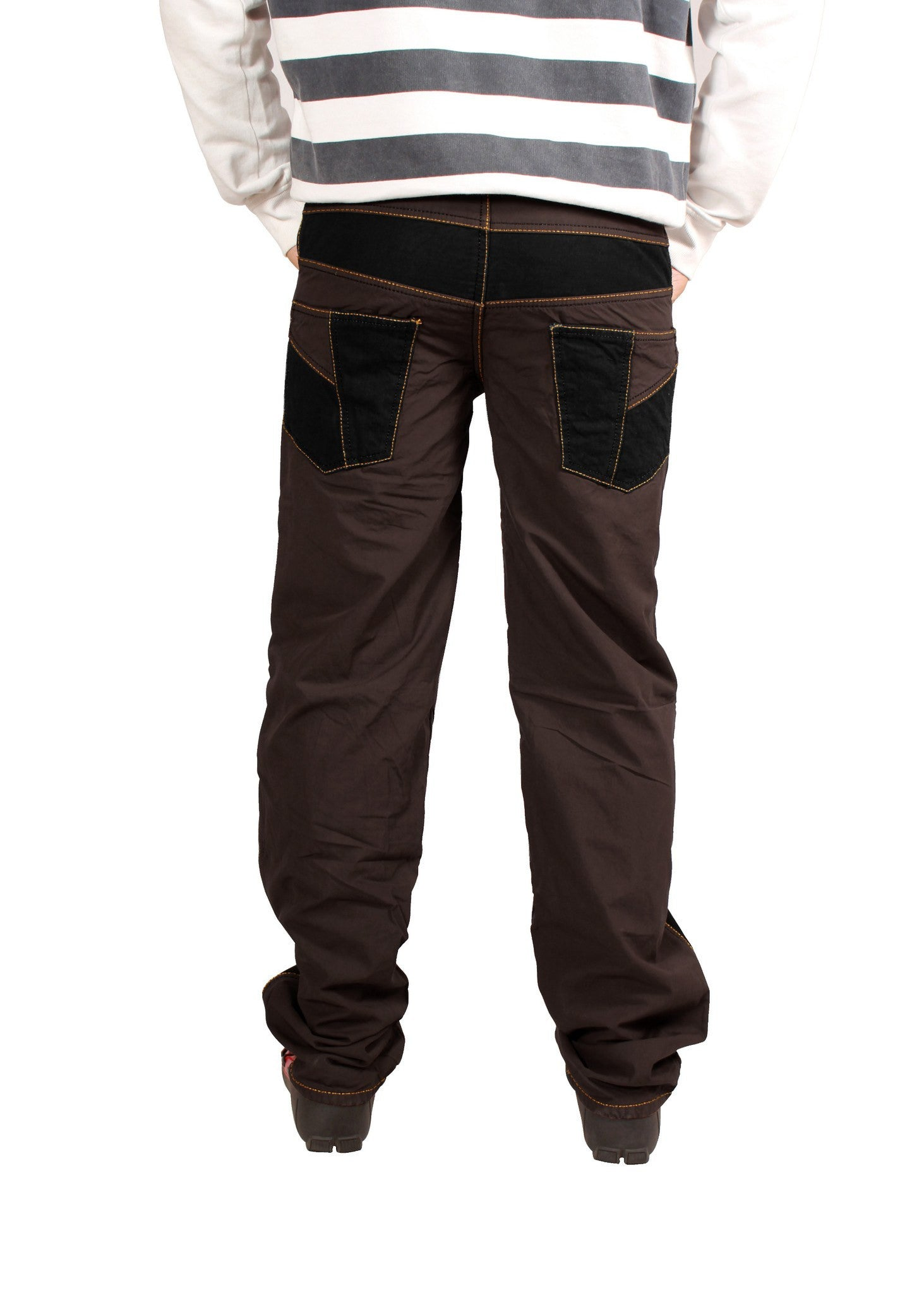 Roasted Coffee Brown Bonded Trouser - Über Urban Trouser