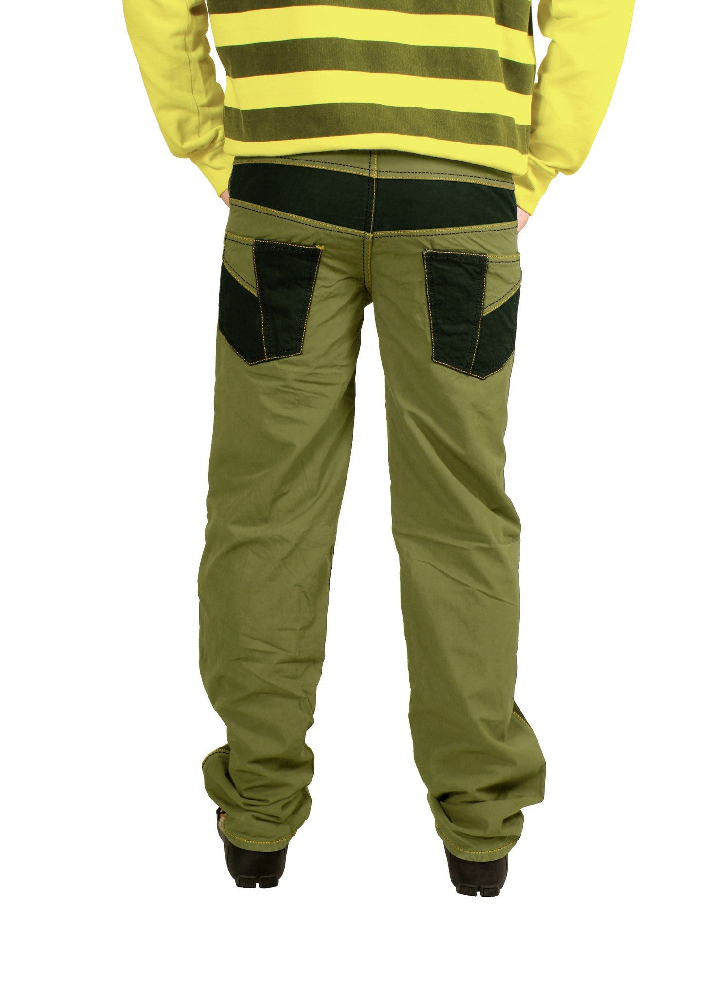 Soil Khaki Green Bonded Trouser - Über Urban Trouser