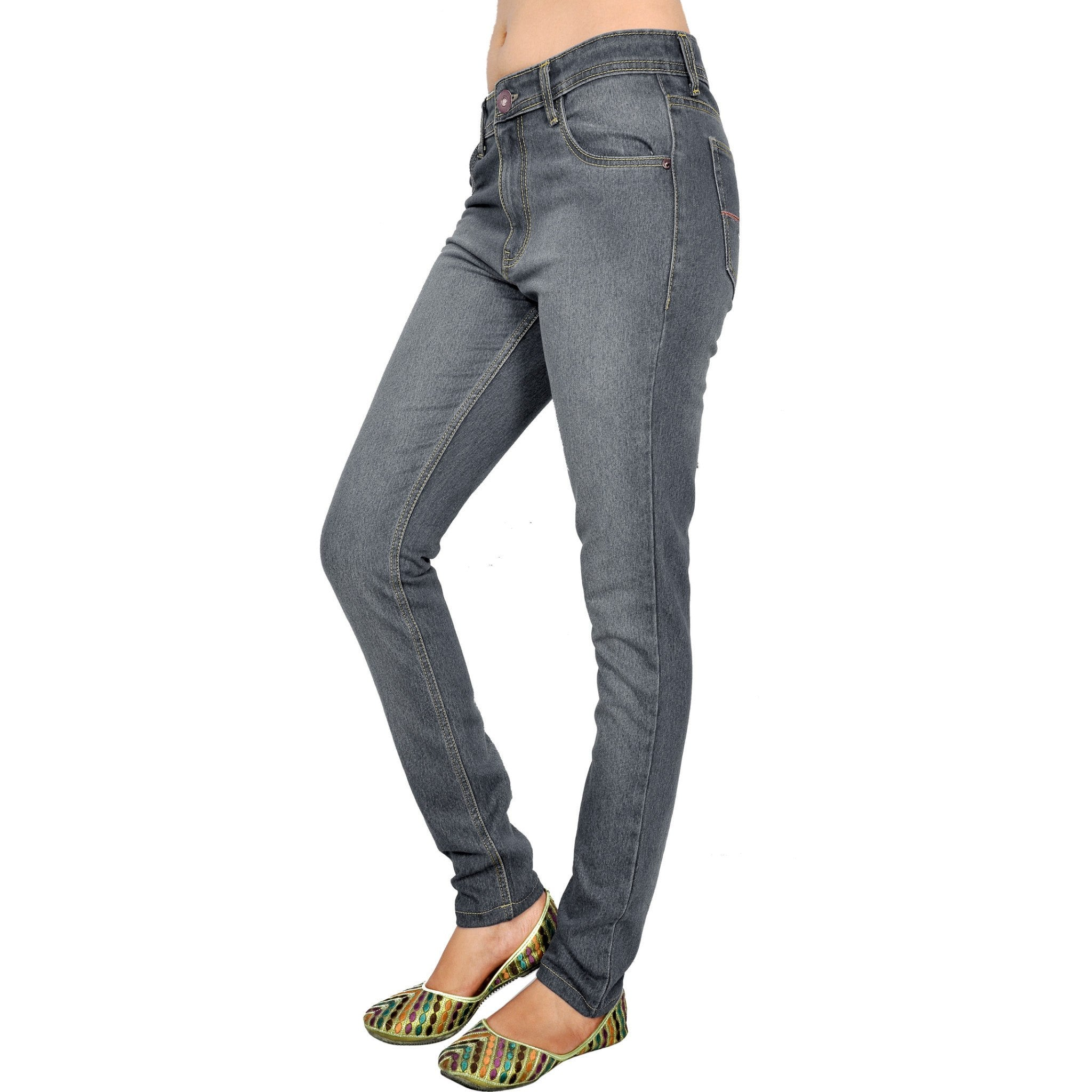 Shaded dimgray slim fit left side view