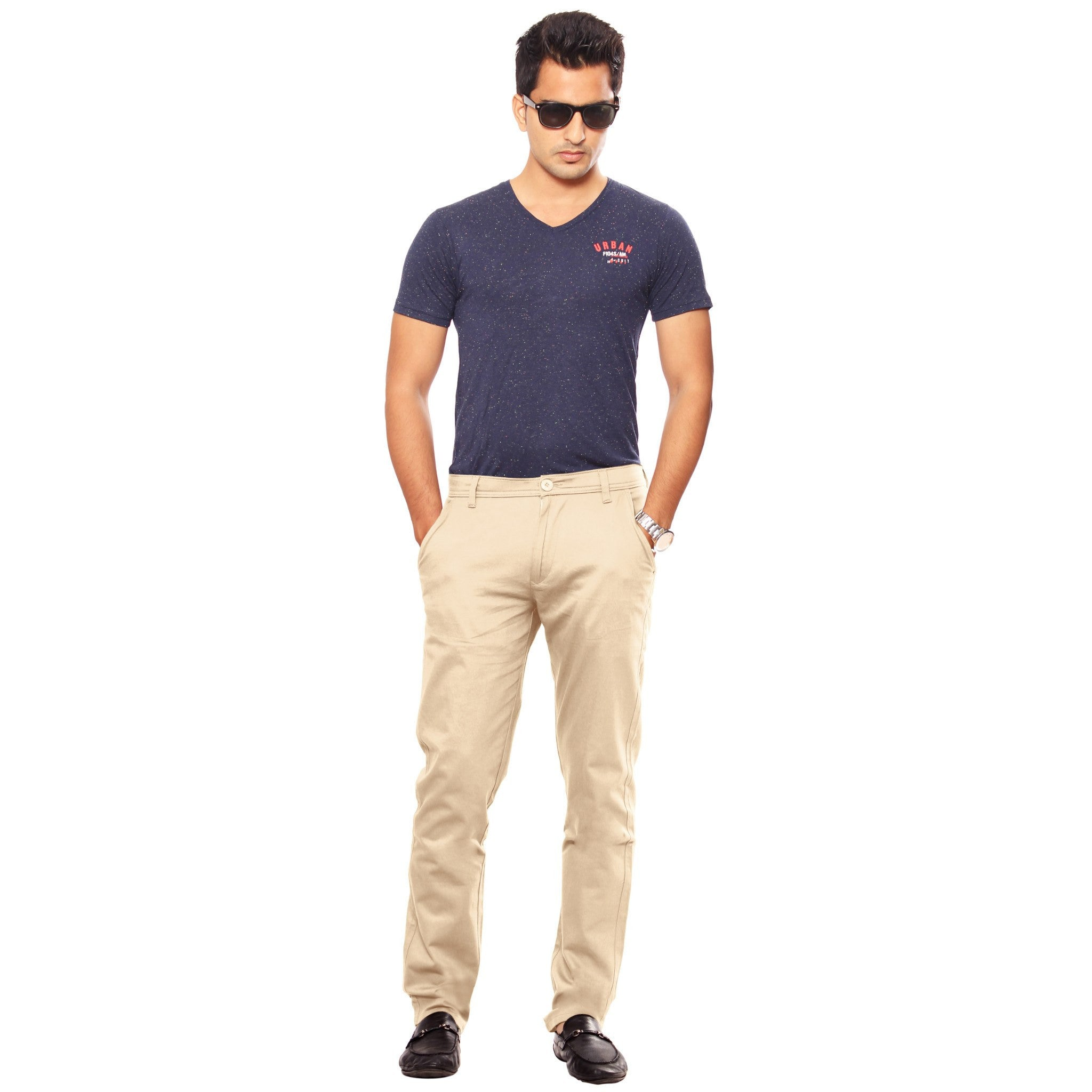 Uber Khaki skeek pant full view
