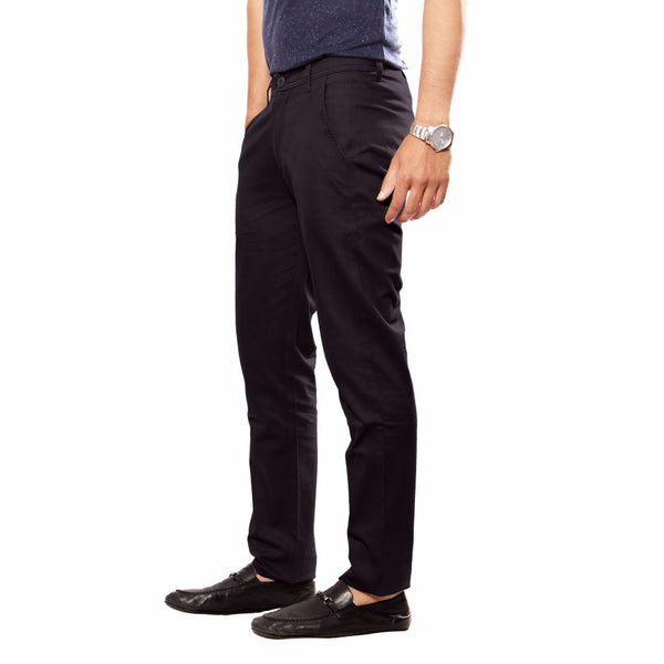 Coal Black Sleek Pant