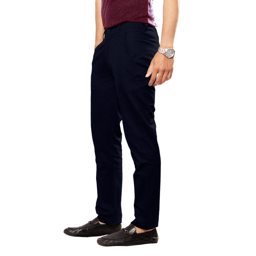 Uber Jet Black Slim Fit Skeek Pant side view