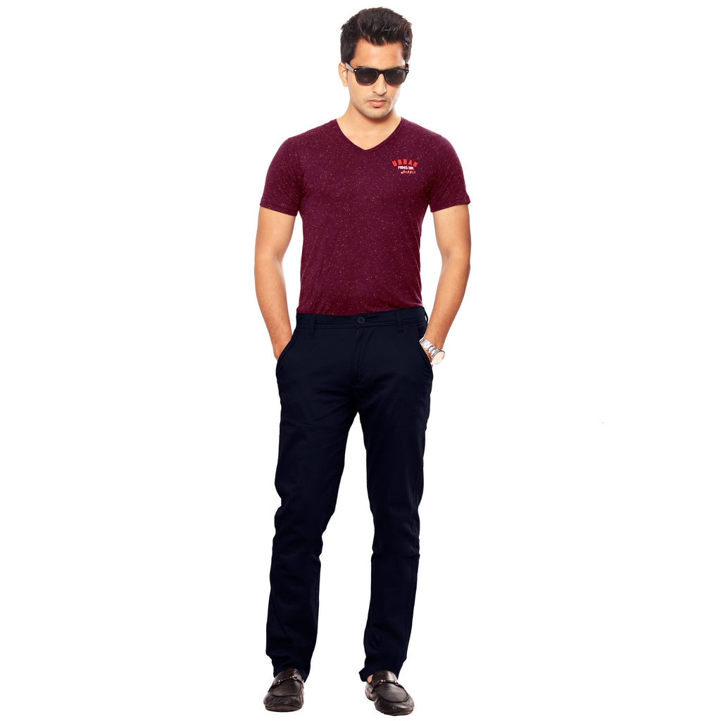 Uber Jet Black Slim Fit Skeek Pant full view