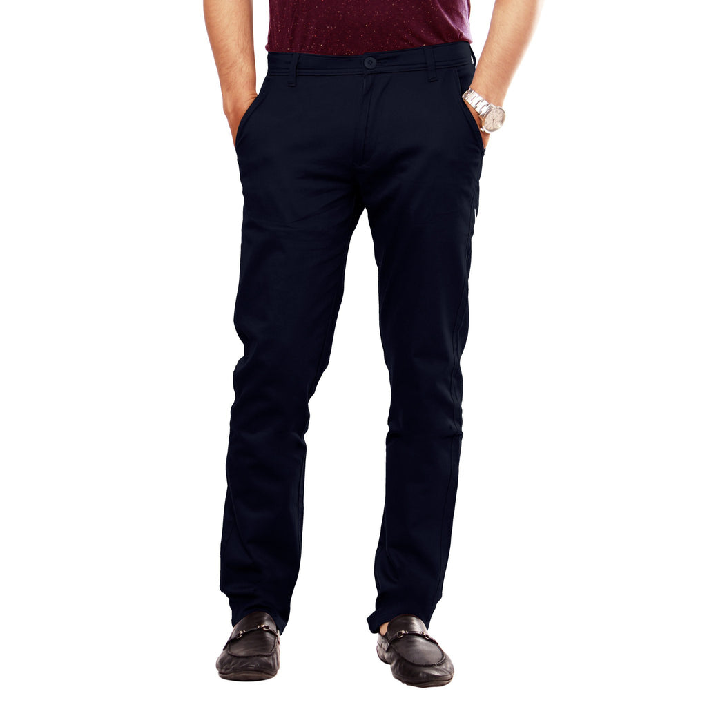 Uber Jet Black Slim Fit Skeek Pant front view