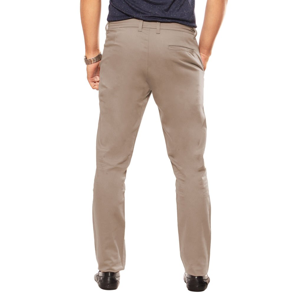 Uber Tan Grey Slim Fit Skeek Pant back view