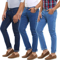 Stretchable Slim Fit Denim Jeans (Pack of 3) - uber-urban