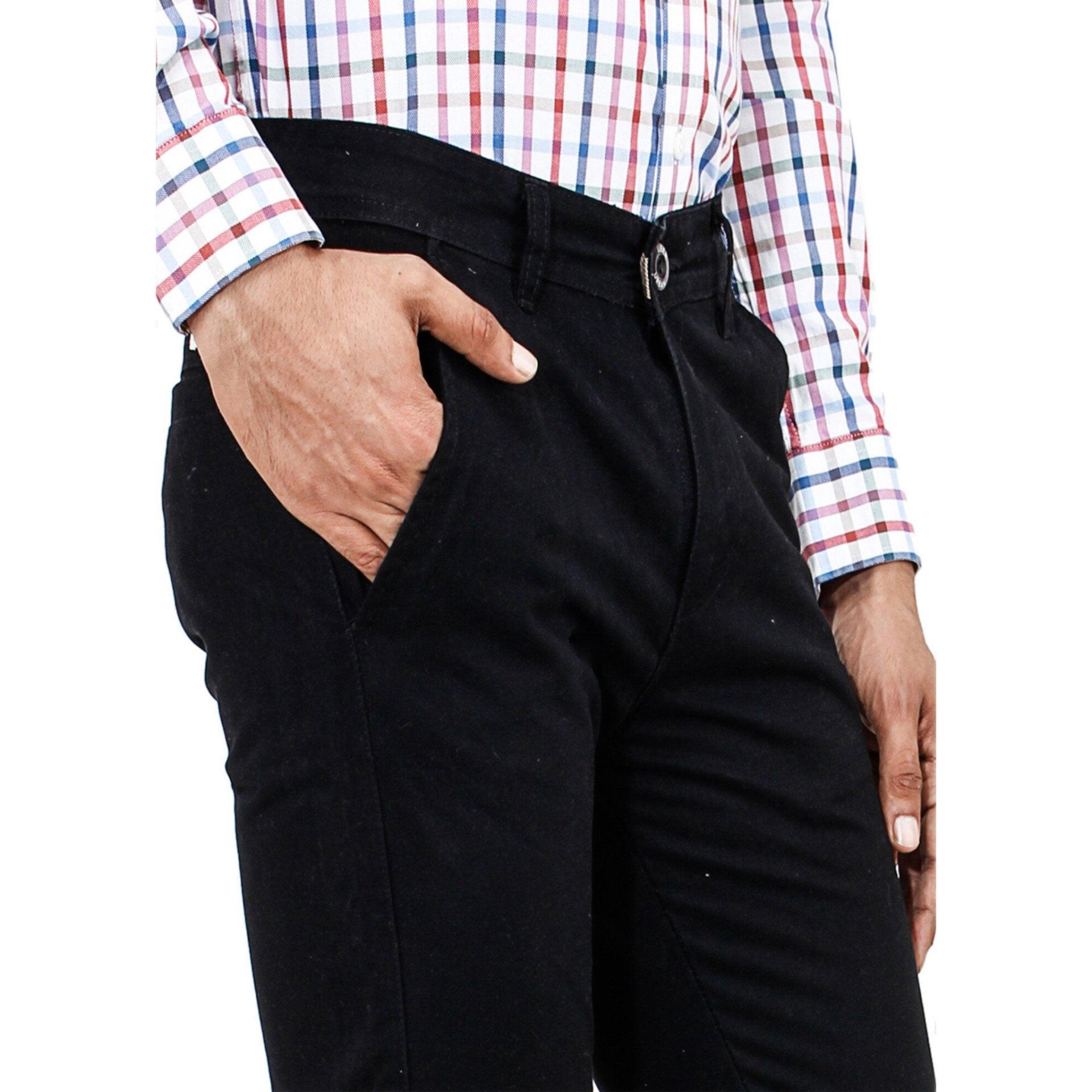 Uber Jet Black Rocky Trouser Right Side View