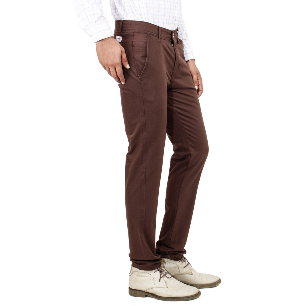 Uber Rocky Brown Trouser side view
