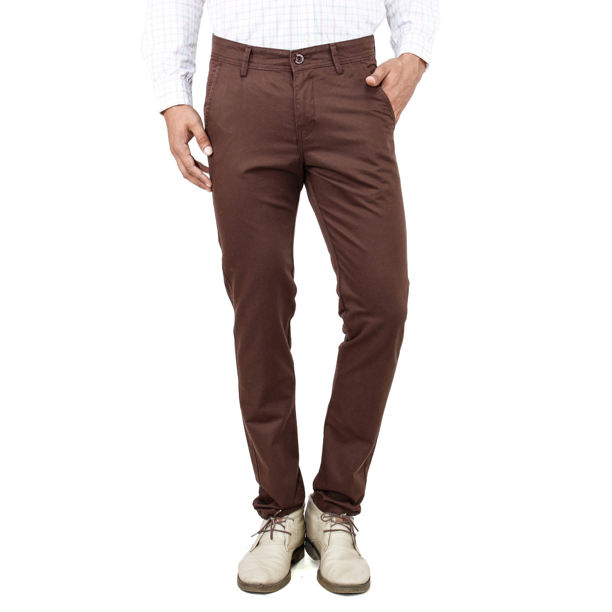 Uber Rocky Brown Trouser front view