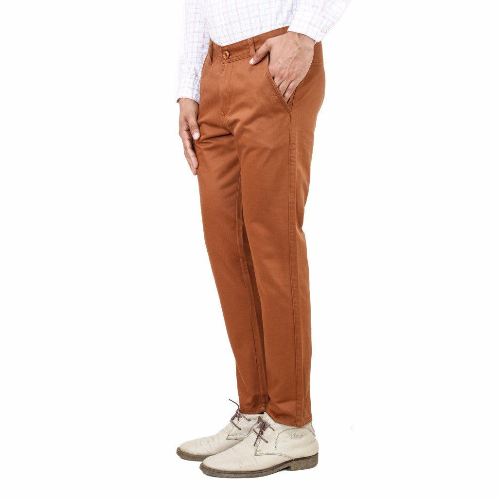 Uber Chocolate Brown Rocky trouser side view