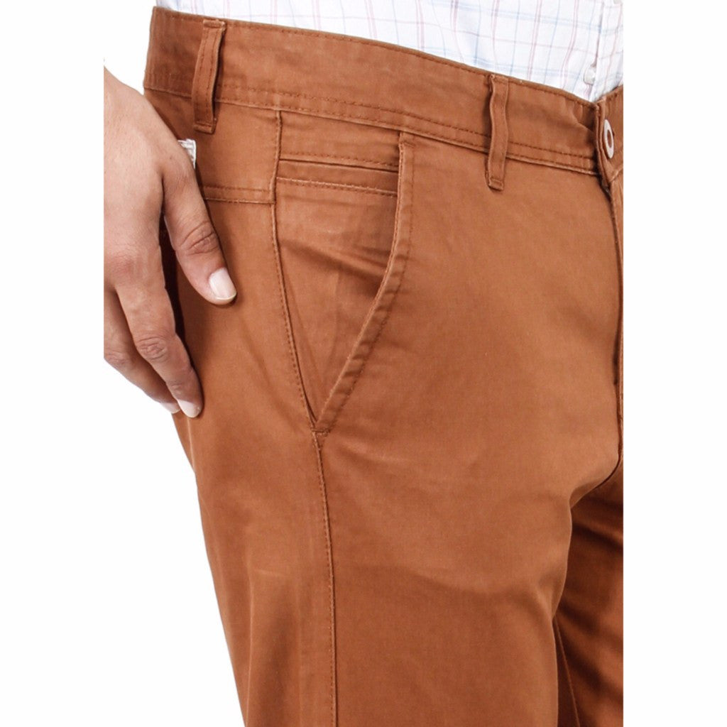 Uber Chocolate Brown Rocky trouser close up view