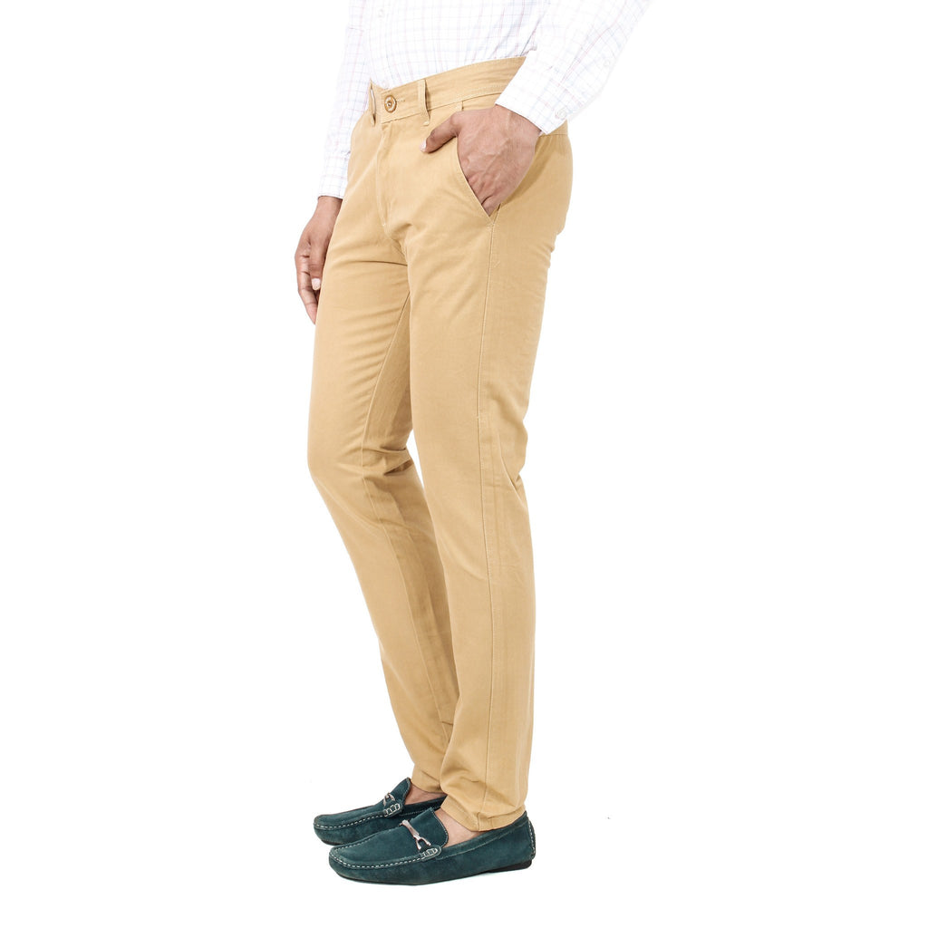 Uber Khaki Cotton Rocky Trouser side view