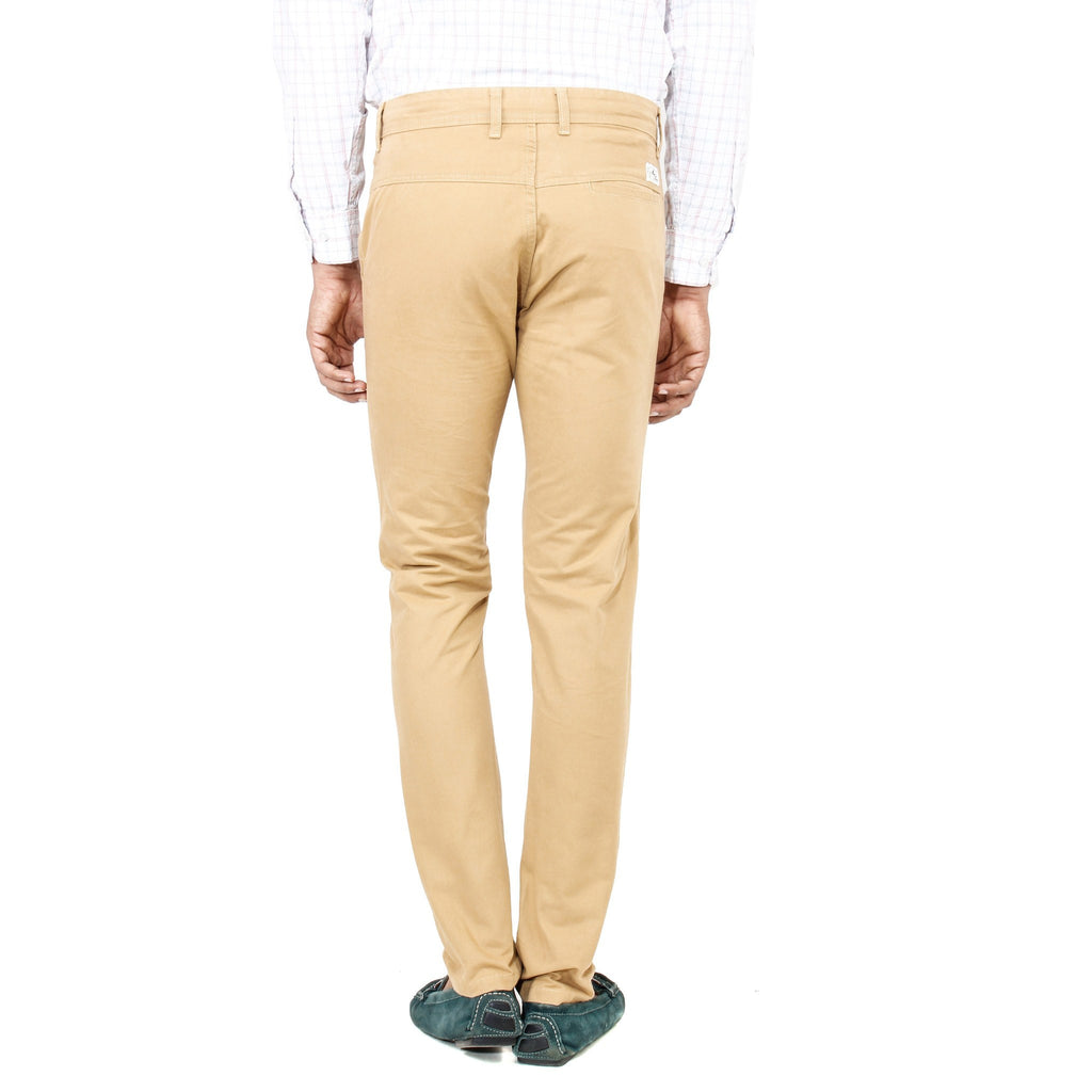 Uber Khaki Cotton Rocky Trouser back view