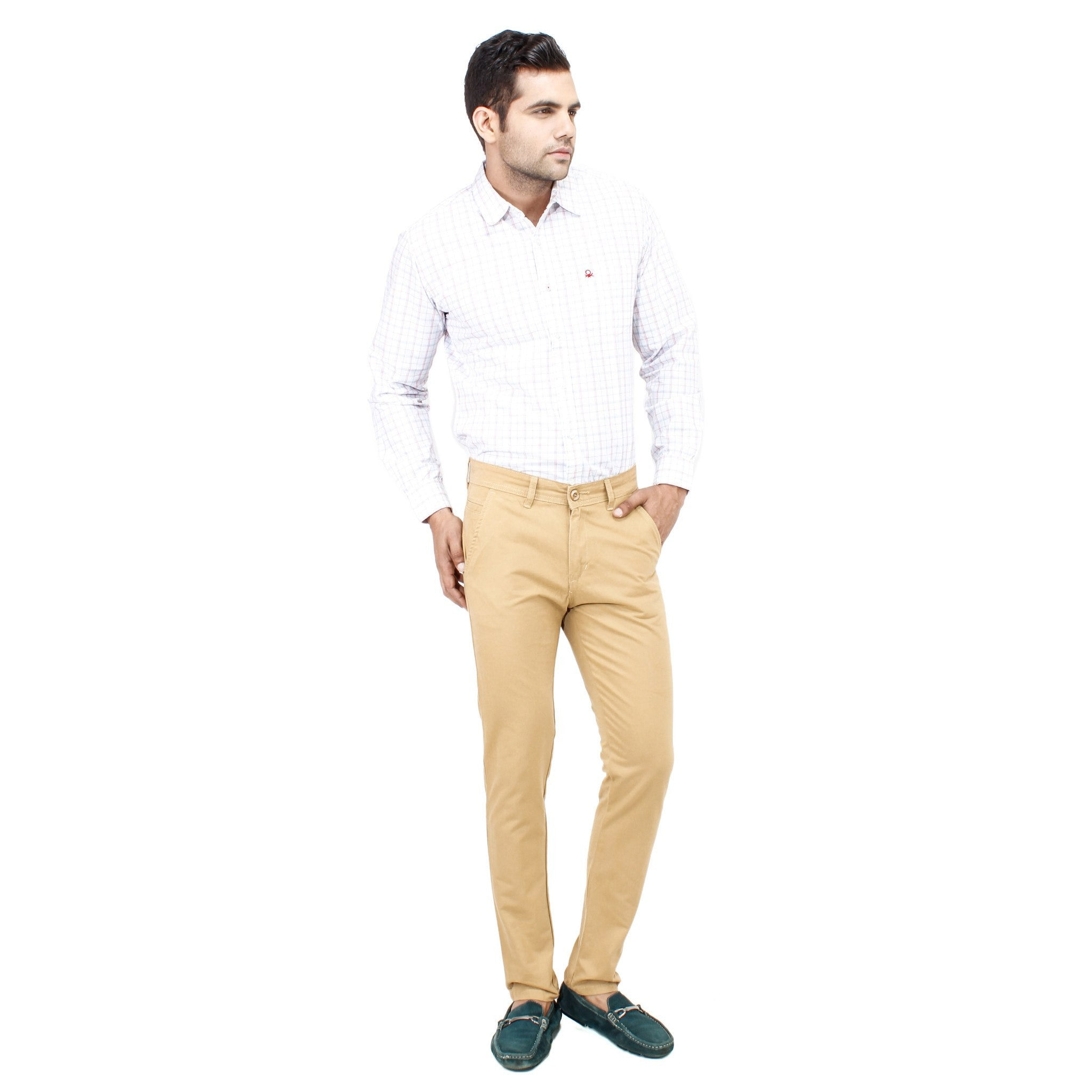 Uber Khaki Cotton Rocky Trouser full view