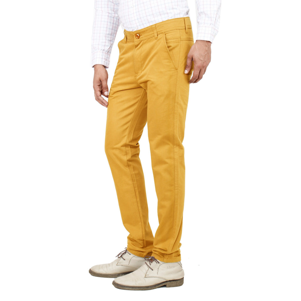 Uber Golden Yellow Rocky Trouser side view