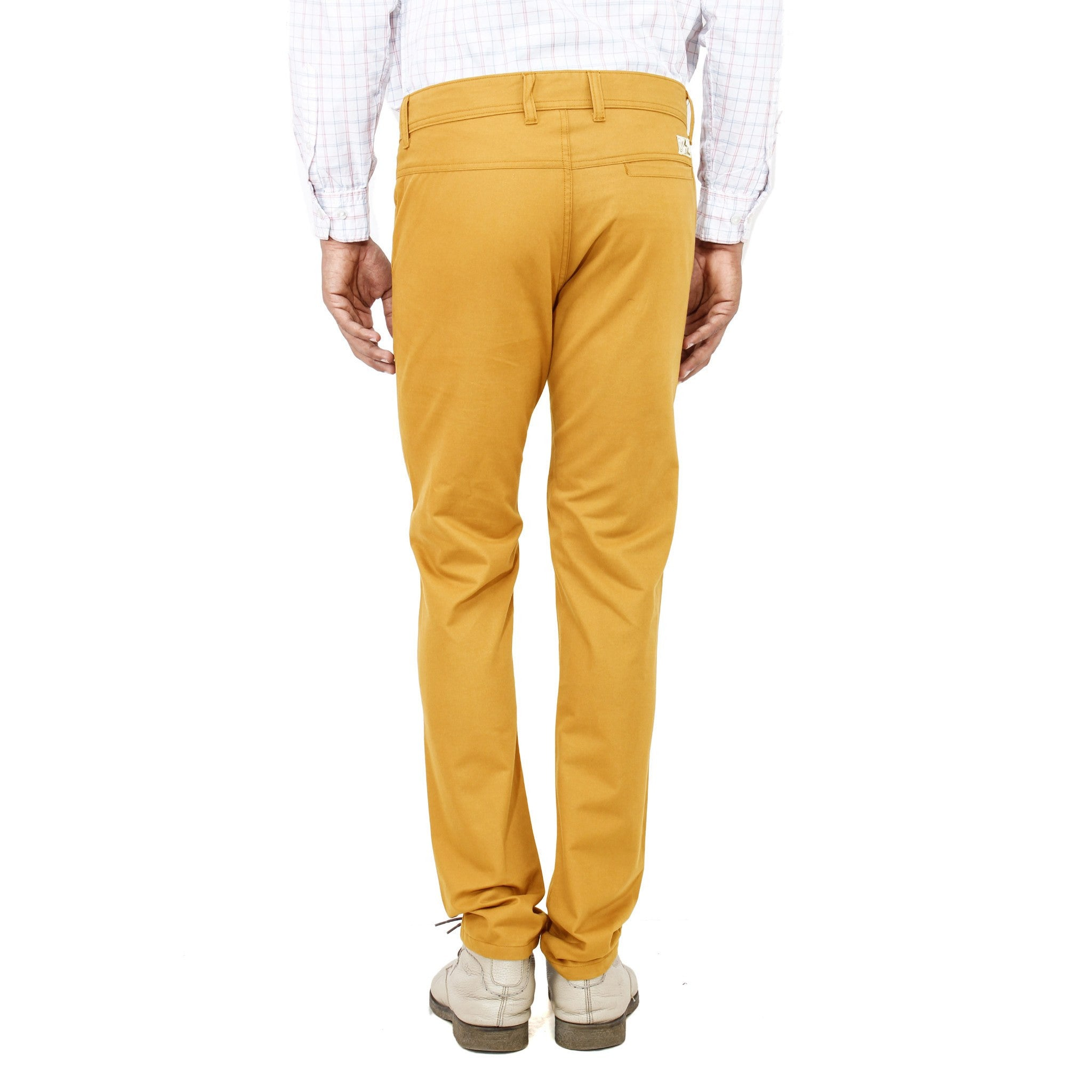 Uber Golden Yellow Rocky Trouser back view