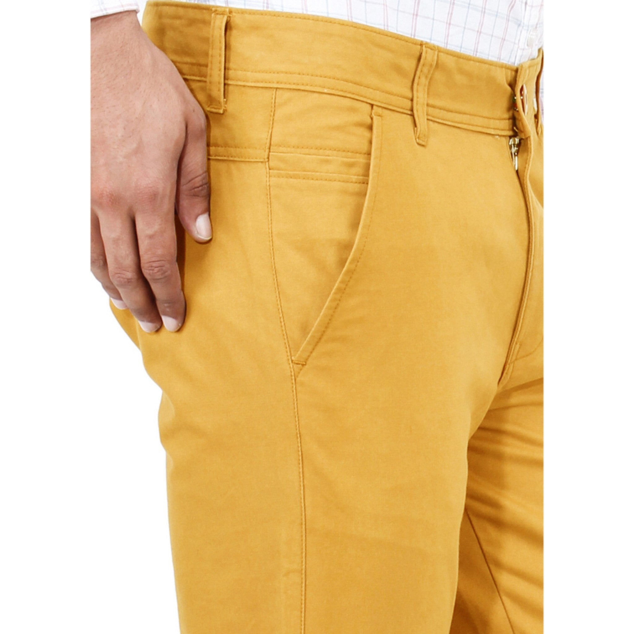 Uber Golden Yellow Rocky Trouser close up view