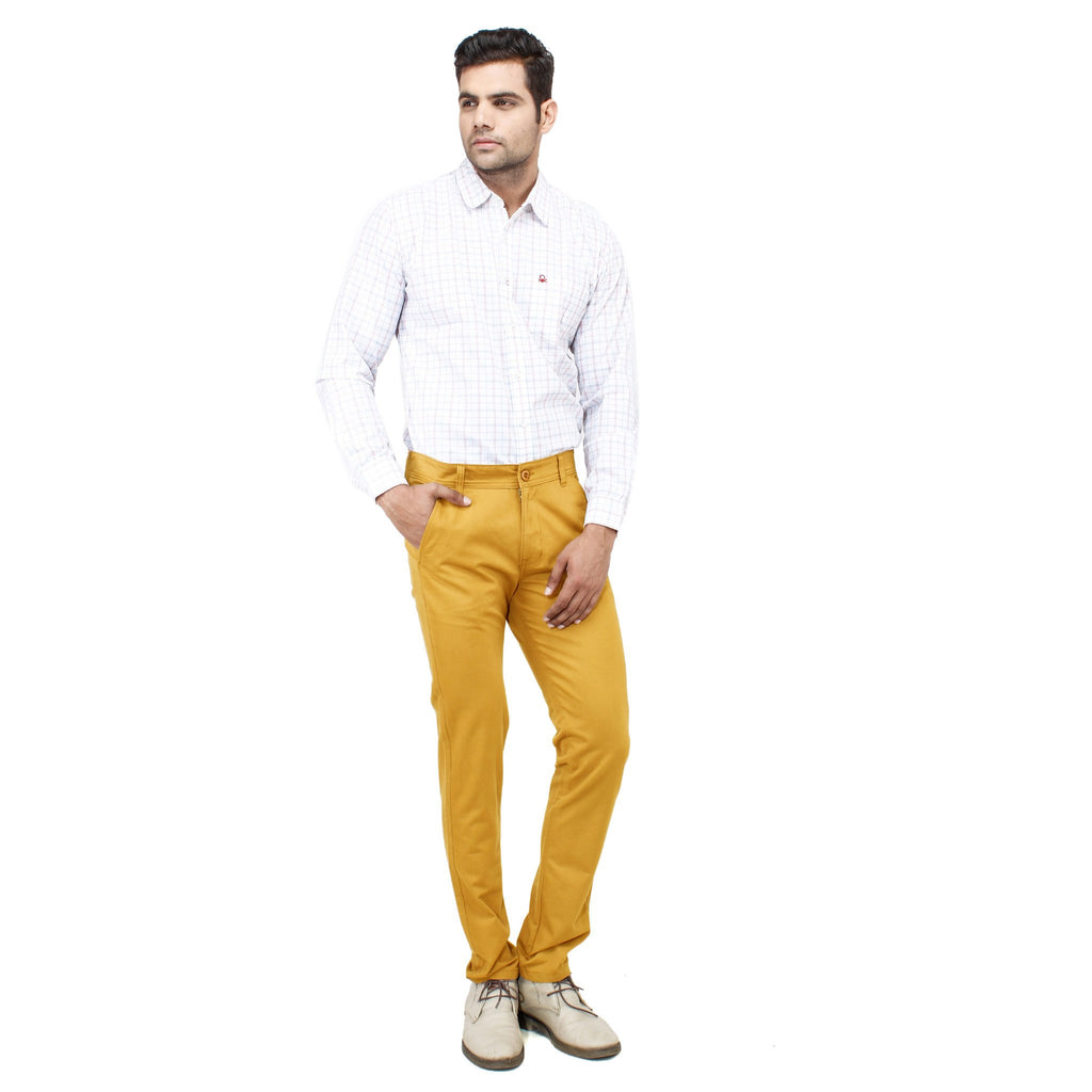 Uber Golden Yellow Rocky Trouser full view