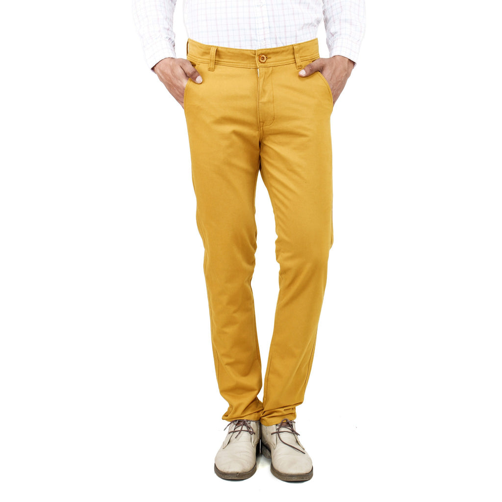 Uber Golden Yellow Rocky Trouser front view