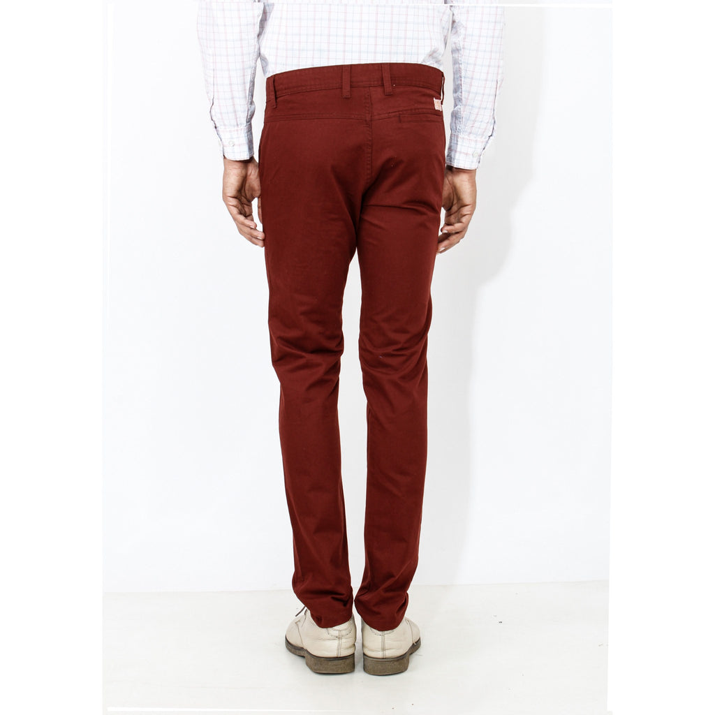 Maroon Rocky Trouser back view