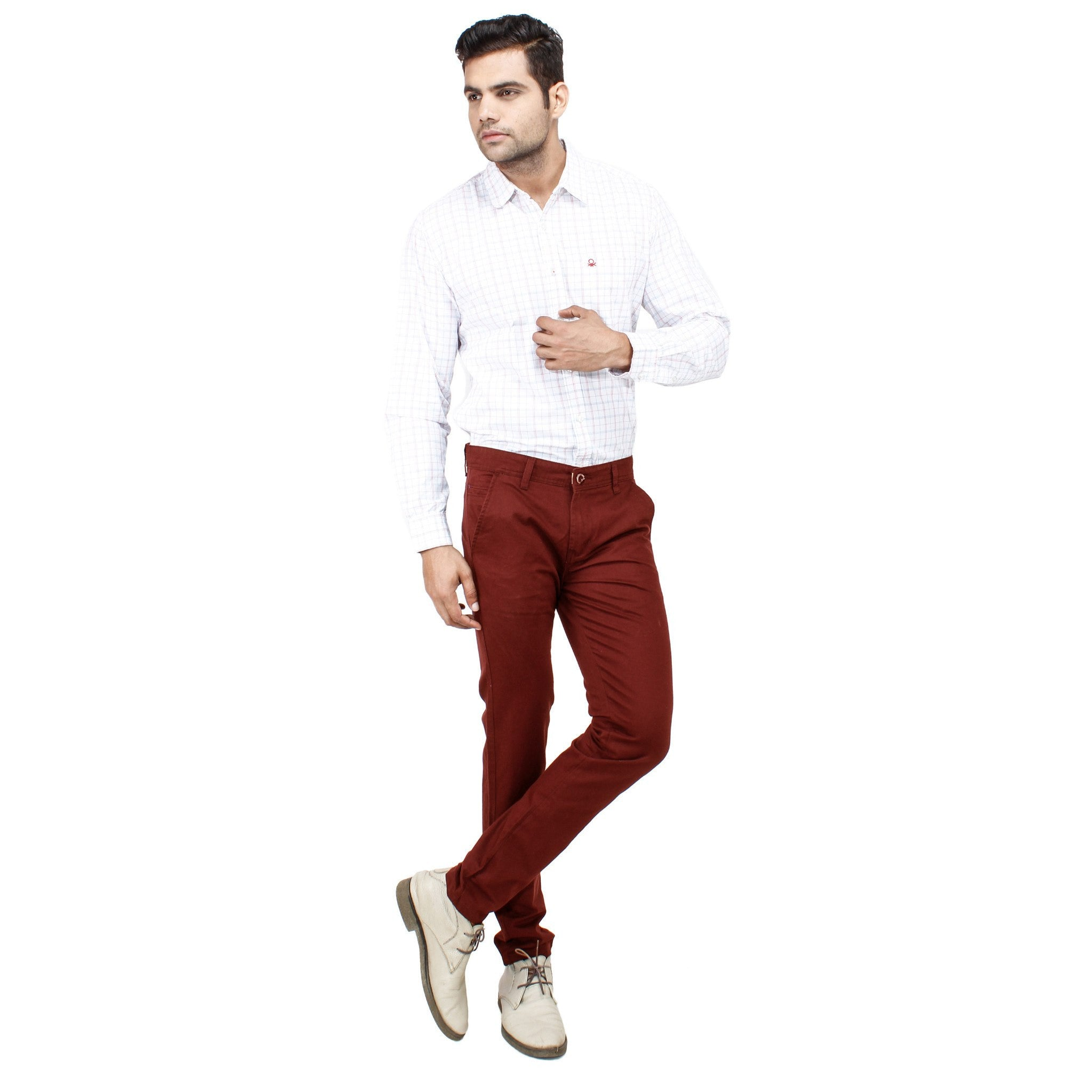 Maroon Rocky Trouser full view