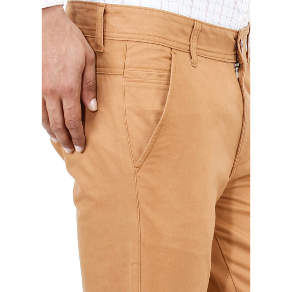 Sandy Brown Rocky Trouser close up view