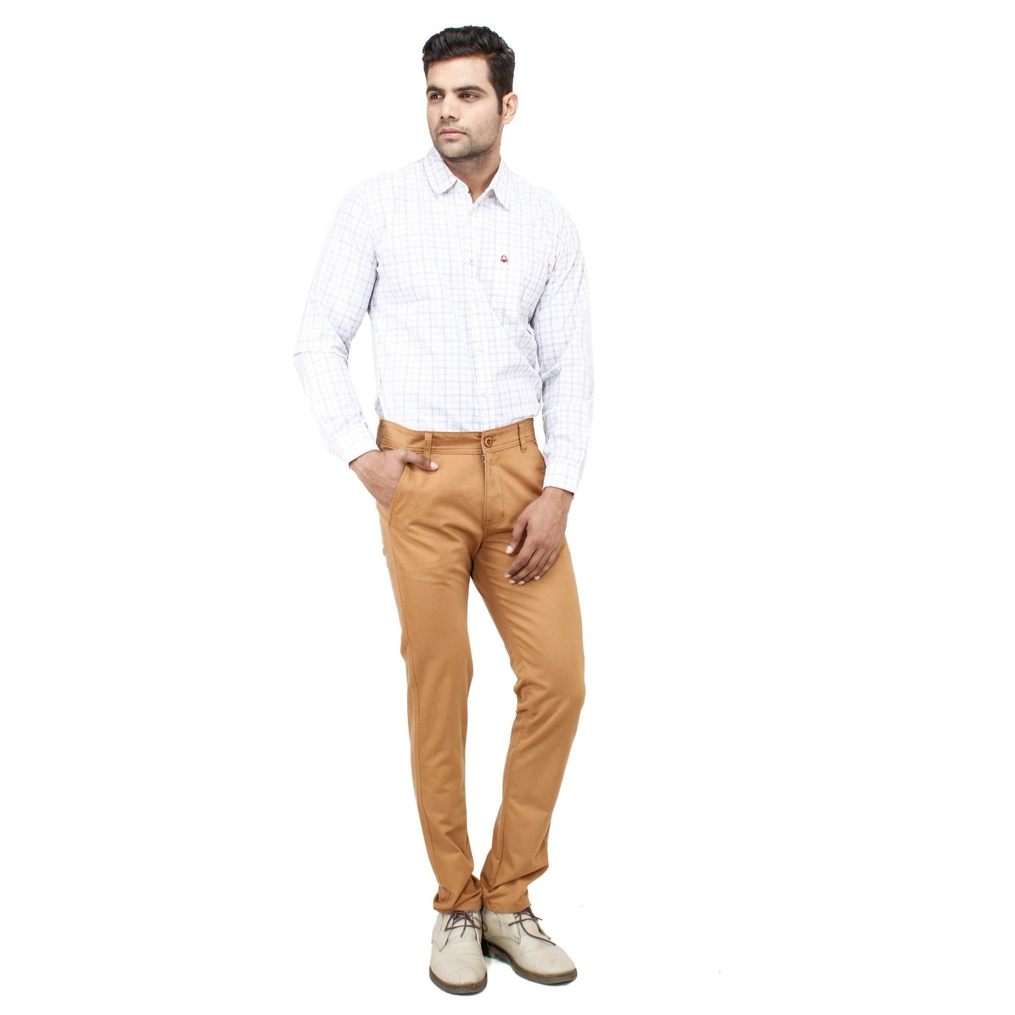 Sandy Brown Rocky Trouser full view